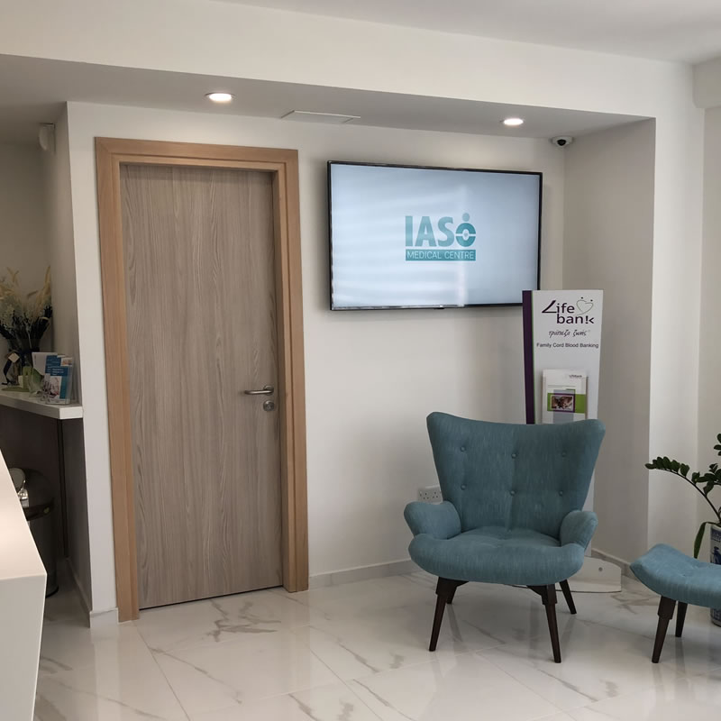 IASO medical centre Cyprus Digital Signage by fidelity