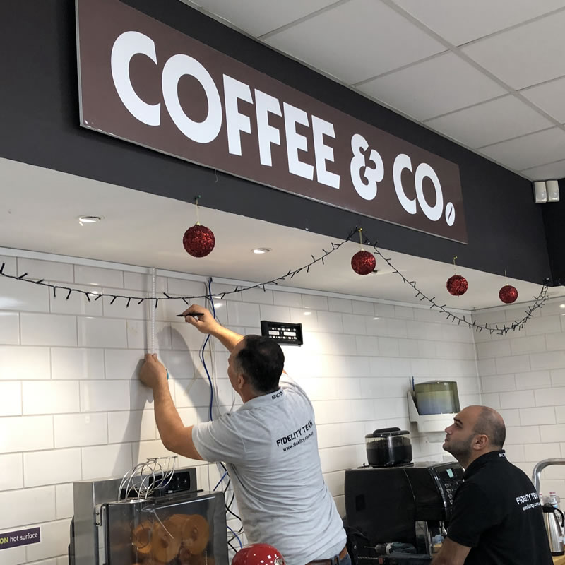 Coffee & Co Akrotiri Digital Signage Cyprus 1