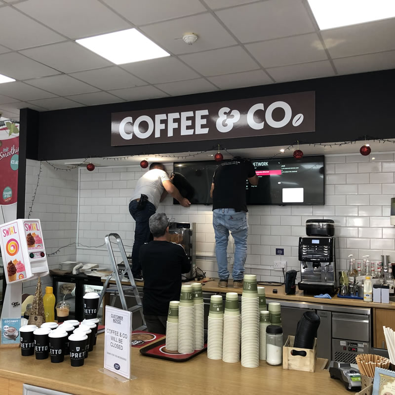 Coffee & Co Akrotiri Digital Signage Cyprus 2