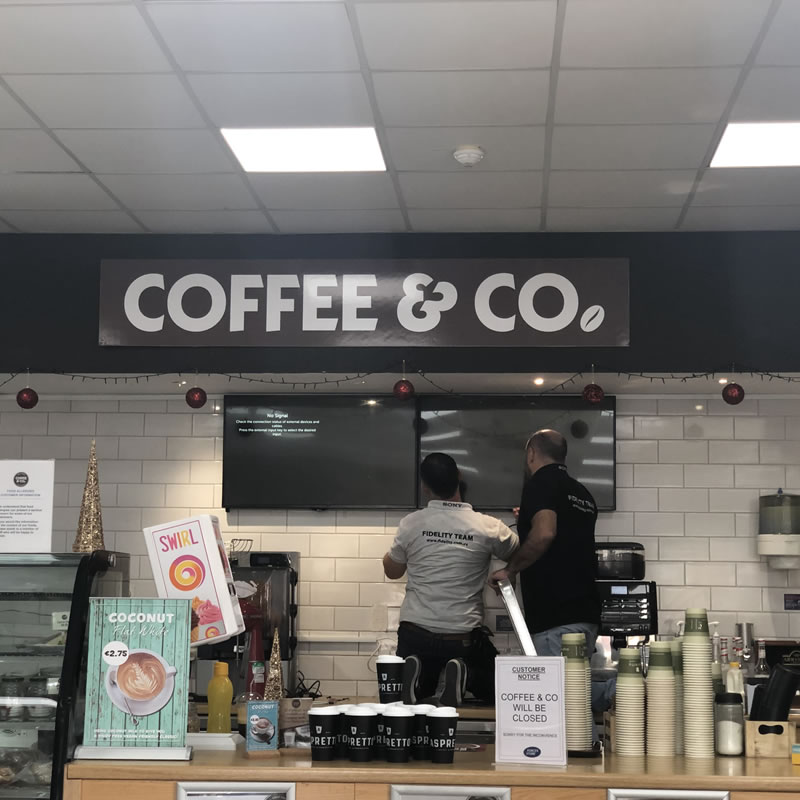Coffee & Co Akrotiri Digital Signage Cyprus 3