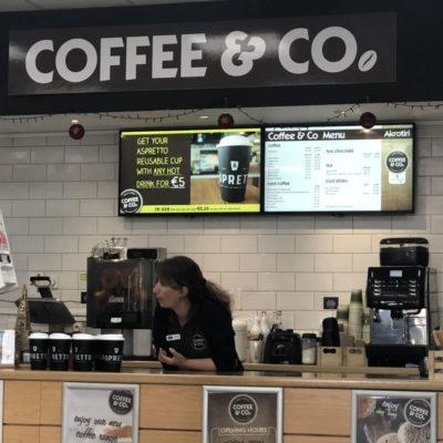 Coffee & Co Akrotiri Digital Signage Cyprus