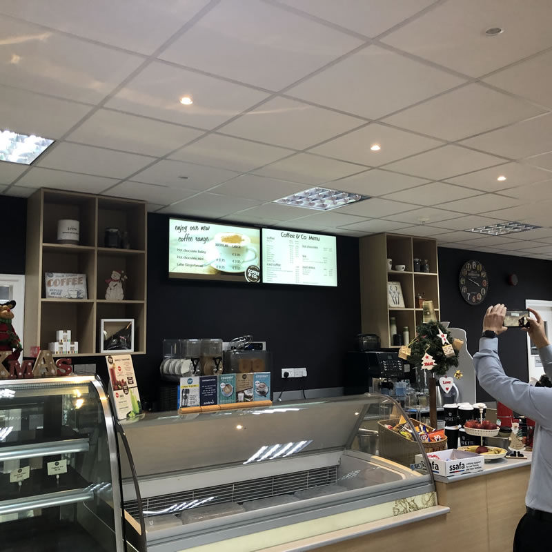 Episkopi Coffe & Co Cyprus Digital Signage by Fidelity Texhnology Solutions