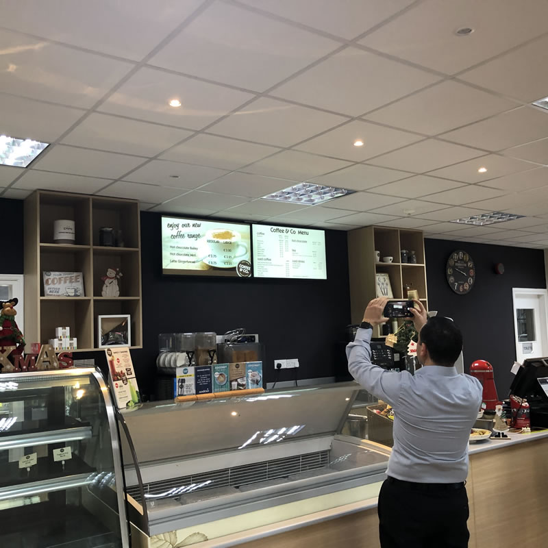 Episkopi Coffe & Co Cyprus Digital Signage by Fidelity Texhnology Solutions 7