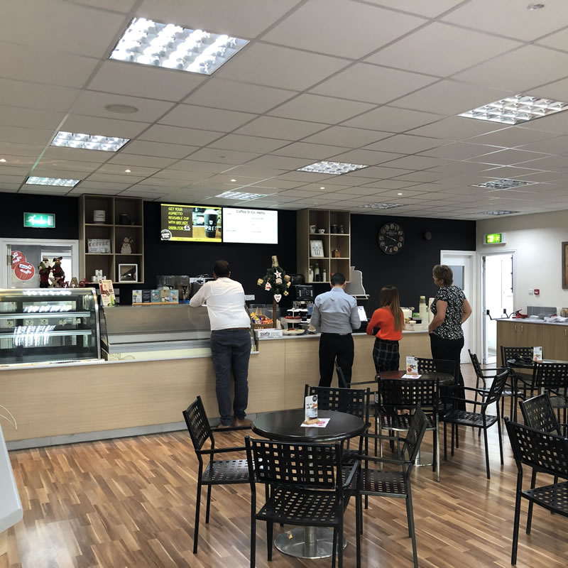 Episkopi Coffe & Co Cyprus Digital Signage by Fidelity Texhnology Solutions 8