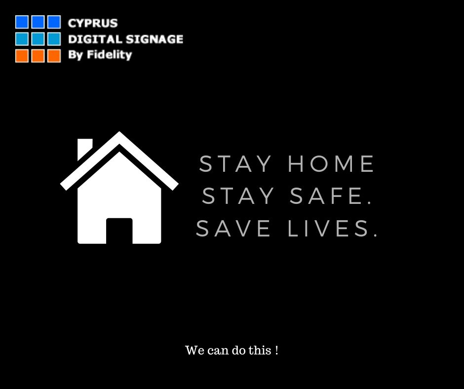 _stay home cyprus digital signage